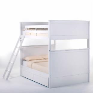 Schoolhouse Casey Full over Full Bunk Bed - White