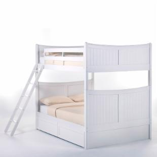 Schoolhouse Taylor Full over Full Bunk Bed - White