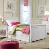 Schoolhouse Sleigh Bed - White