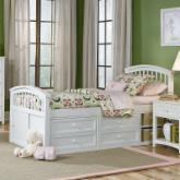  Schoolhouse Captain Bed - White