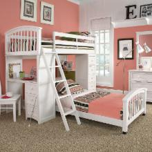 Schoolhouse Student Loft Bed - White