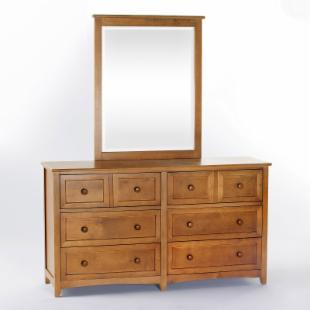 Schoolhouse 6 Drawer Dresser - Pecan