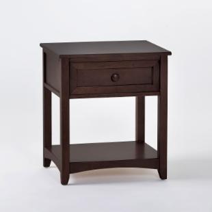 Schoolhouse 1 Drawer Nightstand - Chocolate