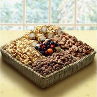 Sweet &amp; Savory Assorted Nut and Snack Basket
