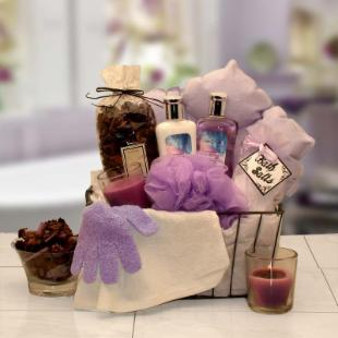 Bath &amp; Body Spa Caddy Gift Basket