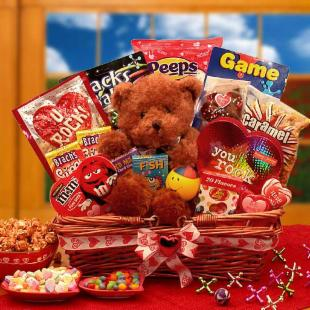 You Rock! Kids Valentines Gift Basket