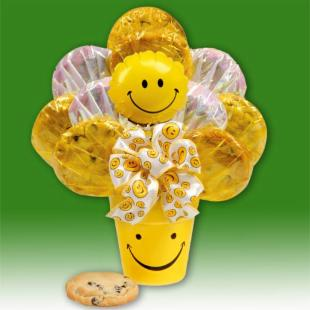 We Make You Smile Cheerful Cookie Bouquet