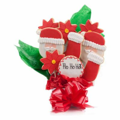 HoHoHo Jolly Santa Cookie Bouquet 9 Pc.
