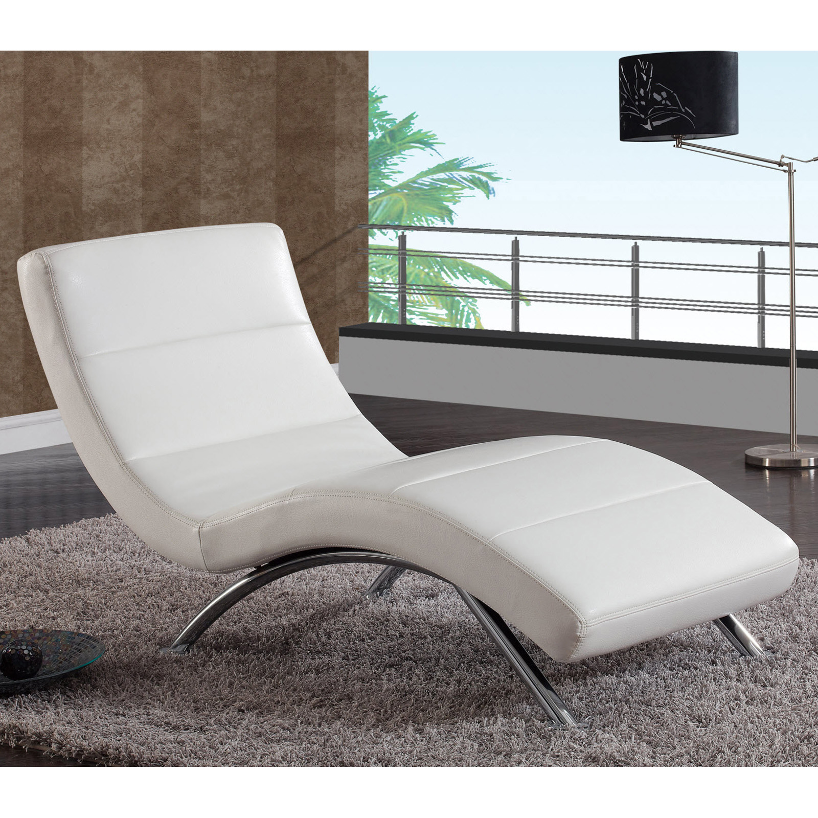 Global furniture r820 leather indoor chaise lounges for Chaise indoor lounge
