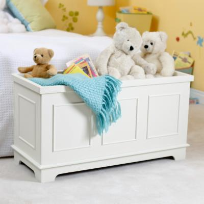 Classic Playtime Linden Toy Box   Vanilla