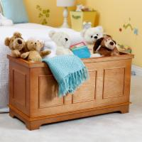 Classic Playtime Linden Toy Box - Pecan