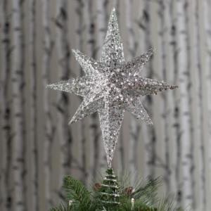17 in. Glitter and Sequin Star Tree Topper
