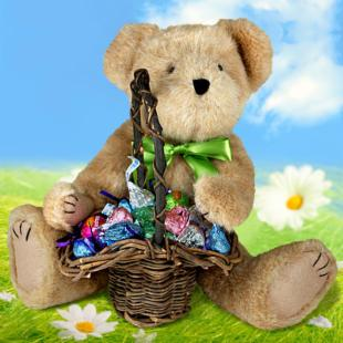 Easter Bear Greetings Gift Basket