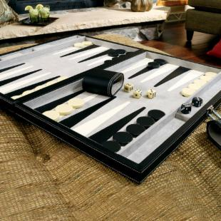 Mainstreet Classics 18inch Tournament Backgammon Set