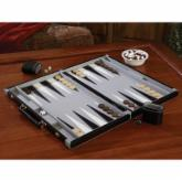 Mainstreet Classics 18 Inch Leatherette Backgammon Set