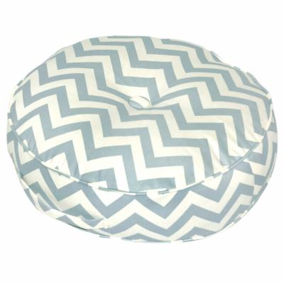 20 in. Round Floor Pillow - Zig Zag