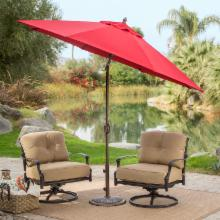  Coral Coast 9-ft. Sunbrella Deluxe Tilt Aluminum Patio Umbrella