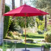  9-ft. Wood Commercial Grade Sunbrella Market Umbrella