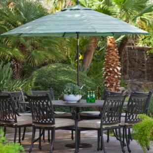 Galtech 9-ft. Designer Sunbrella Deluxe Tilt Aluminum Patio Umbrella