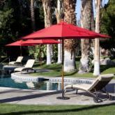  Coral Coast 11 ft. Commercial Wood Sunbrella Patio Umbrella