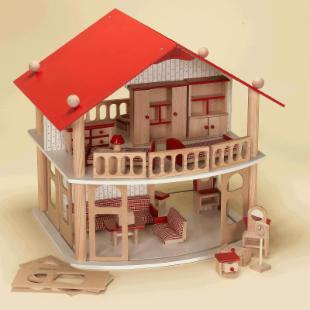 Gift Mark Wood Dollhouse Kit