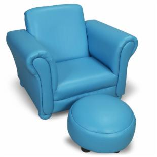 Upholstered Chair with Ottoman