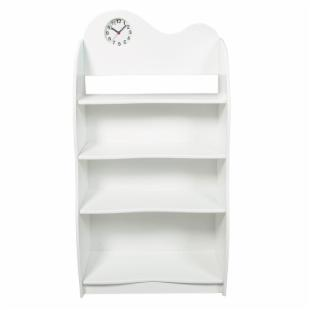 Gift Mark Four Tier Wood Bookcase with Clock