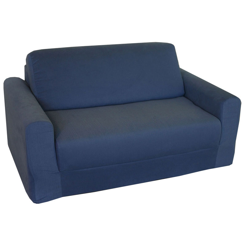 Fun furnishings denim sofa sleeper kids upholstered sofas at hayneedle Denim loveseat