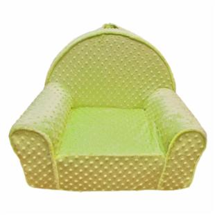 Fun Furnishings Green Minky Dot My First Chair