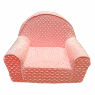 Fun Furnishings Pink Minky Dot My First Chair