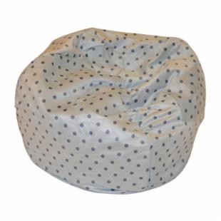 Fun Furnishings Blue Polka Dots Kids Small Beanbag