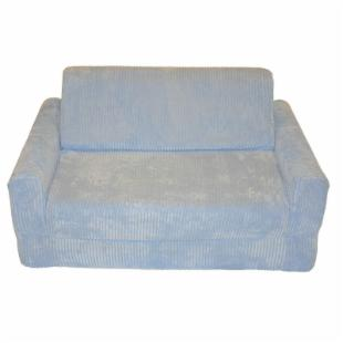 Fun Furnishings Blue Chenille Kids Sofa Sleeper