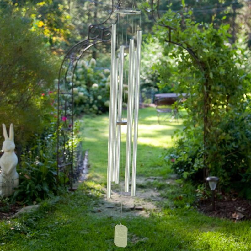 Grace Note Chimes Steeple 50 in. Wind Chime with Optional Personalization