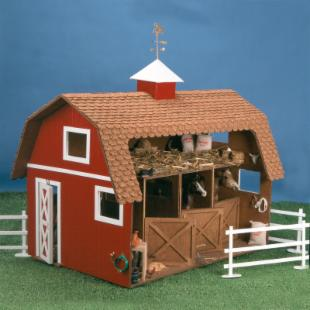Greenleaf Wildwood Stable Dollhouse Kit  - 1 Inch Scale