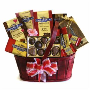 Chocolate Lovers Ghirardelli Celebration Gift Basket