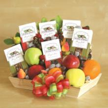 Fresh Fruit & Nut Delights Gift Basket