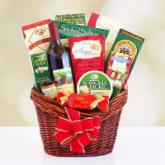 Holiday Red Gourmet Gift Basket