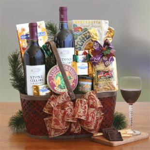 Napa Valley Delights Wine Gift Basket