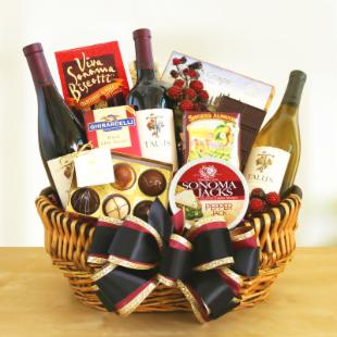 Golden State Wine Gift Basket
