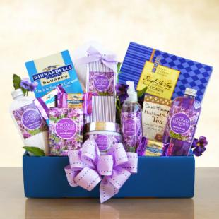 Lovely Lavender Relaxation Spa Gift Basket