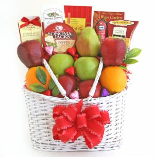 Healthy Hearts Go Together Fruit Gift Basket
