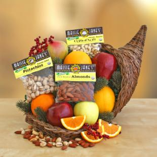 Organic California Horn of Plenty Gift Basket