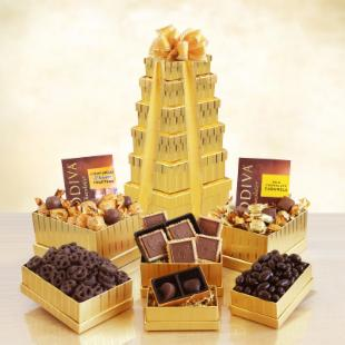 Glimmering Godiva Tower of Chocolate