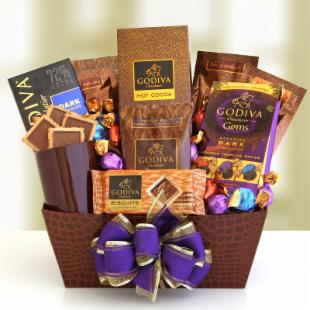 Godiva Coffee House Gift Basket