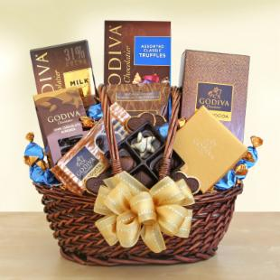 Godiva Chocolate Celebrations Gift Basket