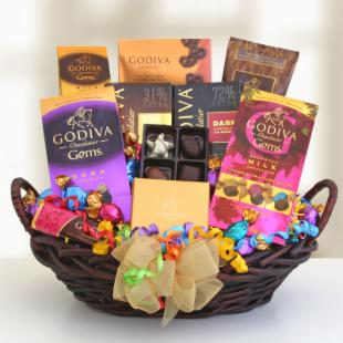 Chocolate Lover's Birthday Surprise Gift Basket