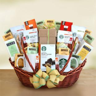 Starbucks Office Party Centerpiece Gift Basket