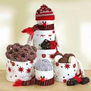 Frosty&#39;s Snowy Treats Gift Tower