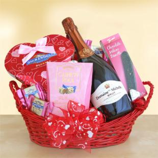 Valentine Bubbles Gift Basket
