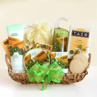Moms Kiwi Melon Spa Gift Basket